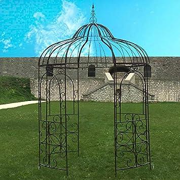 Provins Deco Gran cenador pérgola Hierro jardín Ø215 cm: Amazon.es: Hogar