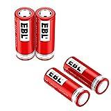 EBL 18500 Li-ion Rechargeable Battery 3.7V 1600mAh for LED Flashlight Torch, 4 Packs