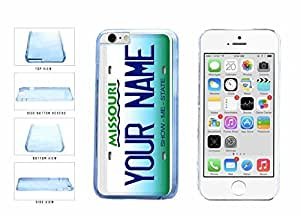 Personalized iphone 5 5s Custom Missouri License Plate Clear Plastic Phone Case Back Cover Apple iphone 5 5s inches screen) includes diy case Cloth and Warranty Label