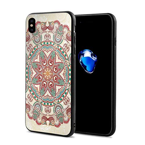 Phone Case Cover for iPhone X XS,Oriental Mandala Figure Vintage Style Boho Art Geometric Forms Pattern Image,Compatible with iPhone X/XS 5.8