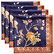 Maison d' Hermine Kelim 100% Cotton Soft and Comfortable Set of 4 Napkins Perfect for Family Dinners | Wed