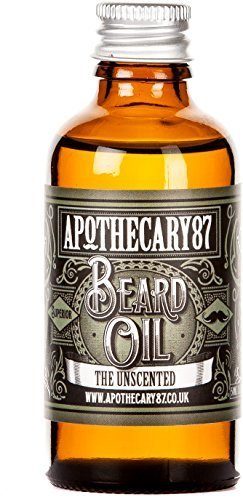 Apothecary 87, Conditioning Beard Oil for the Manliest of Man Beards, Made in England - Unscented, 50 Ml (1.7 Fl - Manliest