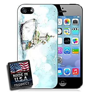 Boat Yacht Nautical Sea Ocean iPhone 5/5s Hard Case by lolosakes