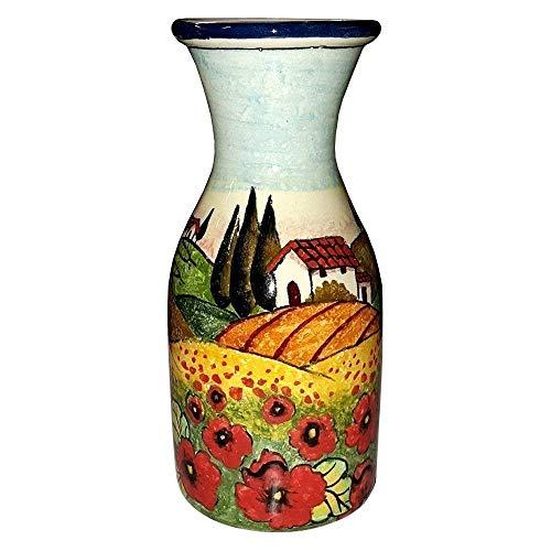 - CERAMICHE D'ARTE PARRINI - Italian Ceramic Art Pottery Vase Jar Vessel Vino Vine Hand Painted Made in ITALY Tuscan