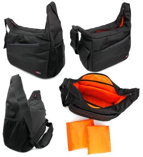 - DURAGADGET Rugged Black/Orange Shoulder Sling Carry Bag - Suitable for Bresser Special Hunt 11x56|Special Hunt 9x36|Special Saturn 20x60|Spezial Zooms 7-35x50 Binoculars