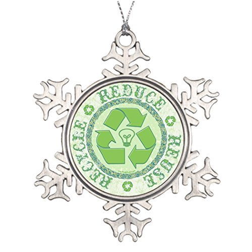 Athena Bacon Ideas for Decorating Christmas Trees Recycle Earth Day Gear Office Decor ()