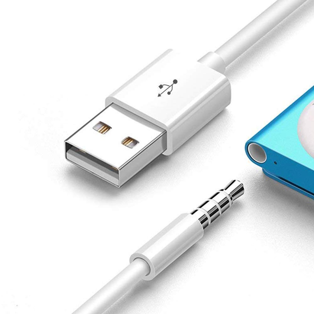 NEORTX USB Data Sync Cable Cord 3.5mm Male AUX Plug to USB Male Charger Converter Headphone Audio Extender Jack Adapter Charging Cable