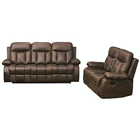 Swell Betsy Furniture 2 Pc Microfiber Fabric Recliner Set Living Room Set In Brown Sofa Loveseat Chair Pillow Top Backrest And Armrests 8028 32 Lamtechconsult Wood Chair Design Ideas Lamtechconsultcom
