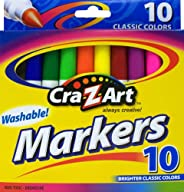 Cra-Z-Art Classic Washable Broad Line Markers, Box of 10 (10002-24)