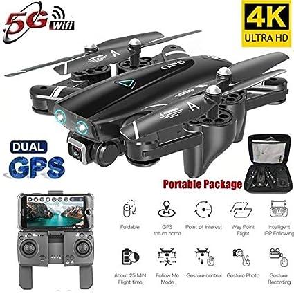LQC S167 GPS Drone con Cámara 5g RC Quadcopter Drone 4k WiFi FPV ...