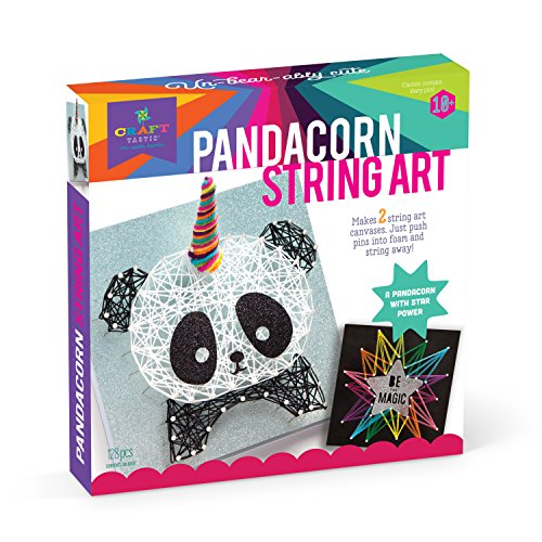 Craft-tastic - String Art Kit - Craft Kit Makes 2 Large String Art Canvases - Pandacorn Edition