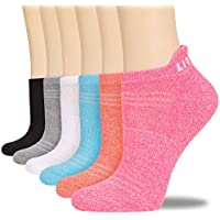 6-Pack Literra Ankle Low Athletic Sports Cushioned Tab Womens Socks