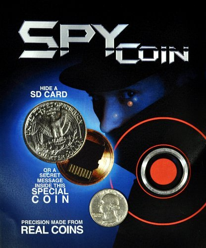 Spy Coin -Micro Sd Card Secret Compartment Quarter by Magic Supply House