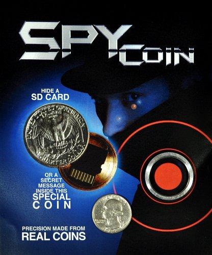 Covert Gear Spy (Spy Coin -Micro Sd Card Secret Compartment Quarter)