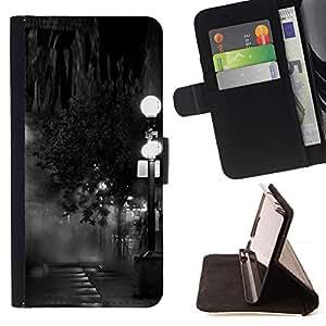 Momo Phone Case / Flip Funda de Cuero Case Cover - Lámpara Negro Blanco Noche de fotos - LG G4 Stylus H540