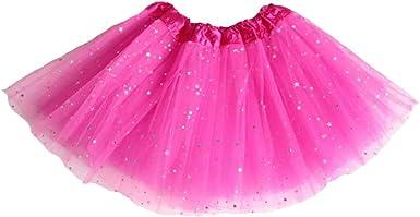 Yying Falda Baile Chicas Mini Faldas - Falda Tul Tutú Faldas ...