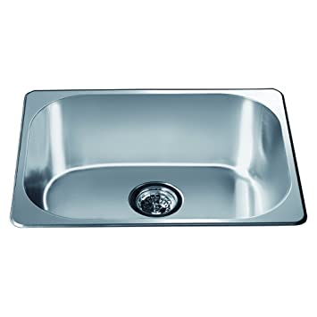 Marvelous Dawn 3233 Top Mount Single Bowl Bar Sink, Polished Satin Finish