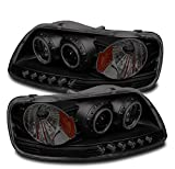 ZMAUTOPARTS Ford F150/ EXpedition CCFL Halo LED Projector Headlights Black/Smoke