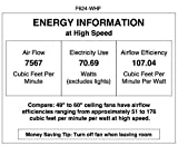 Minka Aire F624-WHF Roto XL 62' 3-Blades Ceiling Fan in Flat White Finish with Flat White Blades