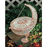 Whitehall Products Sun and Moon Sundial, Copper Verdi by Whitehall Products -- DROPSHIP