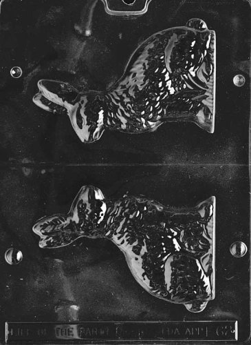 Cybrtrayd Life of the Party E062 Medium Sitting Bunny Easter Chocolate Candy Mold in Sealed Protective Poly Bag Imprinted with Copyrighted Cybrtrayd Molding Instructions -