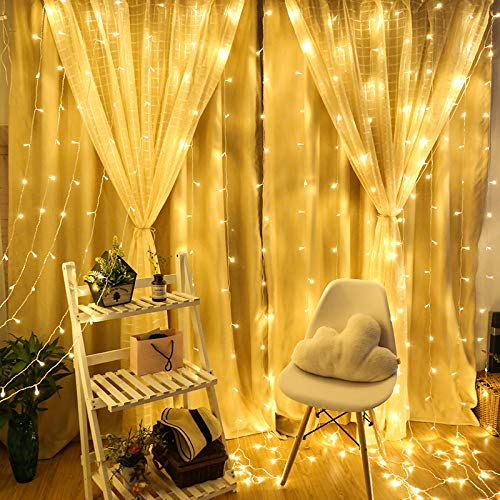 33FT 100 LED Battery Operated String Lights, IP65 Waterproof Outdoor Fairy Lights with 8 Lighting Modes, Timer and Memory Program Perfect for Christmas Wedding Party Bedroom Garden Patio - Warm White