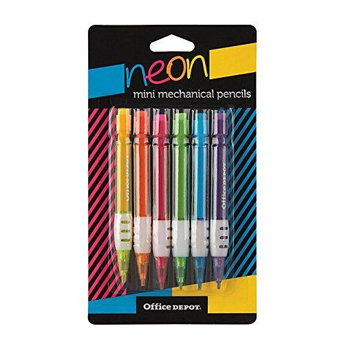 Office Depot Brand Mini Mechanical Pencils, 0.7 mm, Assorted Barrel Colors, Pack Of (Office Depot Mechanical Pencils)