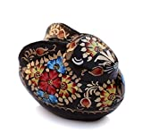 LIMITED OFFER – SouvNear Rabbit Jewelry Box – Paper Mache Black Box / Keepsake Box / Storage Box – Bunny Statue / Sculptures / Decorations / Table Decor / Figurines / Gifts for Her – Thanksgiving Home Décor Gifts