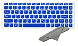 Avigator Translucent Blue Ultra Thin Silicone Keyboard Protector Skin Cover for Lenovo IdeaPad Y40, Y400, Y410p, Z410, Y470, Z470, Y480, Y480p, Z40, Z460, Z460A, Z480, Z485, Z480, Z465, Z380A, Z370, Z360, G40, G410, G485, G480, G475, G470, V485, V480, V470, Flex 14, Flex 2 (14 inch)(if your