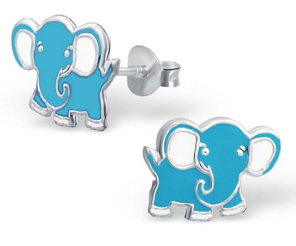 FaithOwl Elephant 925 Sterling Silver Stud Earrings
