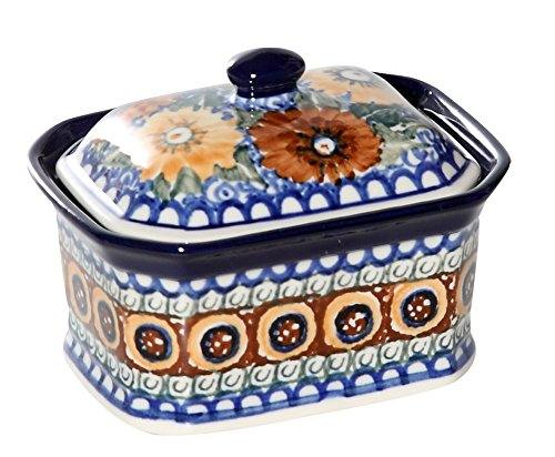 New Polish Pottery Unikat MEDIUM SALT BOX Boleslawiec CA Pattern U585 Stoneware