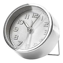 Kikkerland AC11-S Silver Alarm Clock
