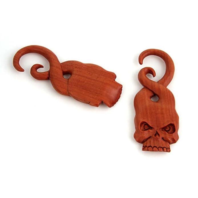 Amazon.com: Par Espiral orgánico Hanging forma de calavera ...