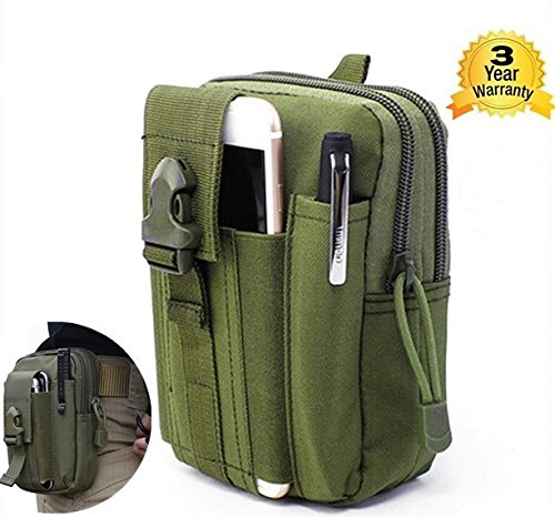 SEAPHANHE Tactical Molle Pouch EDC Utility Gadget Belt Waist Bag Men Waist Bag Utility Pouch Gadget Camping Hiking Outdoor Gear Cell Phone Holster Holder for iPhone 6/6S army green ()