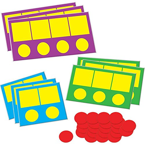 Really Good Stuff Phonemic Awareness Magnetic Sound Box Mats & Chips -