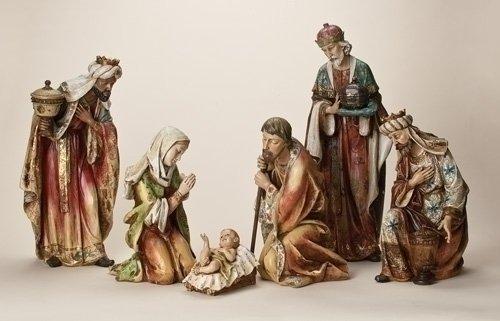 Six Piece Nativity Figurine Set