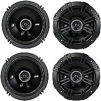 4) Kicker 43DSC504 D-Series 5.25 400W 2-Way 4-Ohm Car Audio Coaxial Speakers