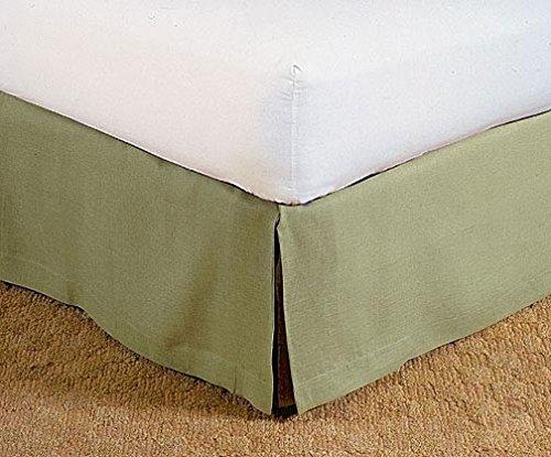 LaxLinens 250 fils cm², 100%  coton, finition élégante 1 jupe plissée de chute lit Longueur    26  )-UK Seule une petite taille en mousse Vert Olive