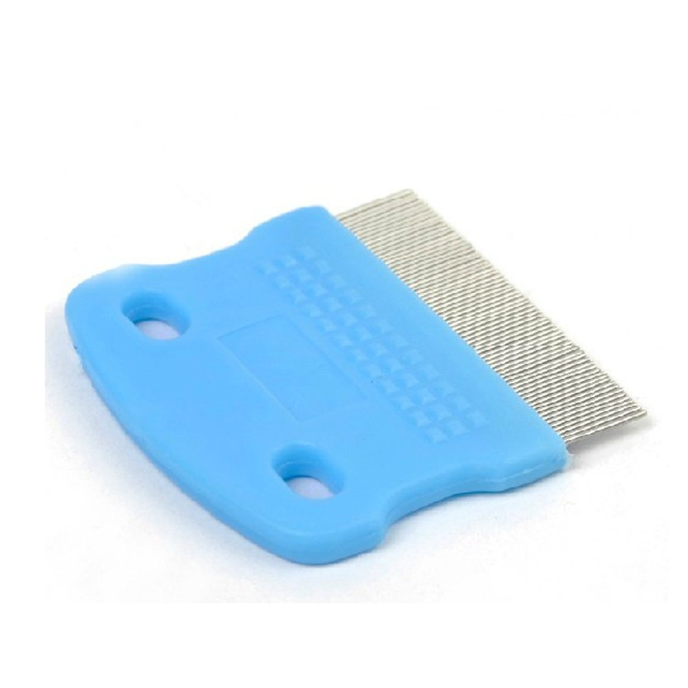 Gogogo 1X Steel Toothed Pet Hair Cleaning Comb Dog Puppy Cat Flea Remover Grooming Brush Random Color
