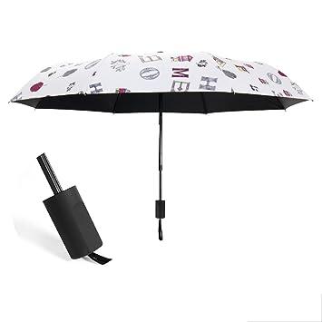 UMBRELLA-L YS Paraguas, Paraguas Automático Plegable Paraguas Completamente Automático Sunny Rain Doble Uso