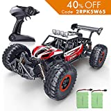 #5: RC Car, SPESXFUN 2018 Newest 2.4 GHz High Speed Remote Control Car, 1/16 Scale Off Road RC Trucks with Two Rechargeable Batteries, Racing Toy Car for All Adults and Kids(Red)