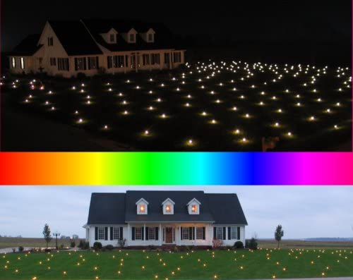 Lawn Lights Illuminated Outdoor Decoration, LED, Christmas, 36-08, Fast Morphing Multicolor