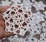 Hand Crochet Snowflakes set Christmas Ornaments Doilies (10)