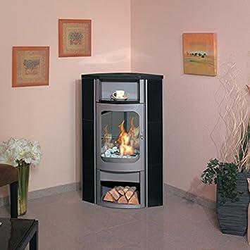 Hark Ethanol Kaminofen Asco 6 Granit Naturschwarz Titan Ofen Deko