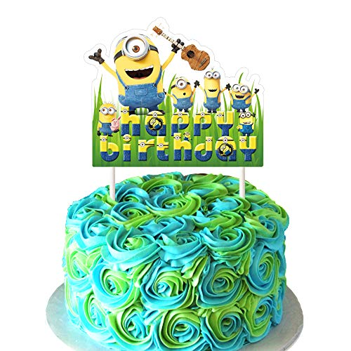 Minions Cake Topper, DESPICABLE ME Birthday Collection of Minion Cake Toppers Decorations for Girls or Boys]()