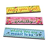 Studio M Magnet Works Where You Are Meant To Be, Set of 3 Art Planks PK2006