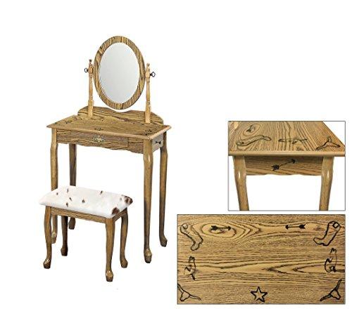 The Furniture Cove Light Oak Finish Queen