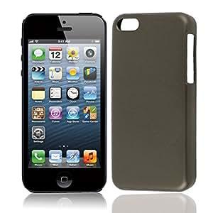 Gris de plástico duro de nuevo caso protector para cubrir iPhone de Apple 5C