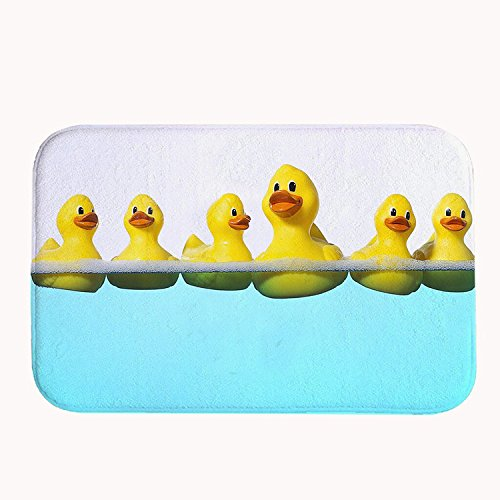 Yilooom Cute Rubber Ducks In The Water Bath Mat Coral Fleece Area Rug Door Mat Entrance Rug Floor Mats for Front Outside Doors Entry Carpet 50 X 80 X 1.3cm
