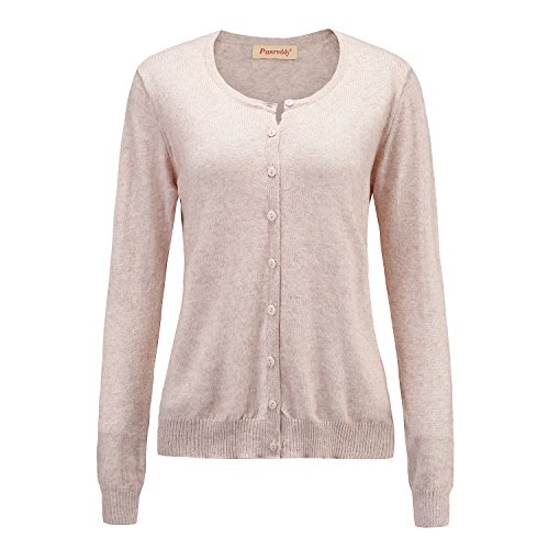 Panreddy Women's Wool Cashmere Classic Cardigan Sweater XL ()